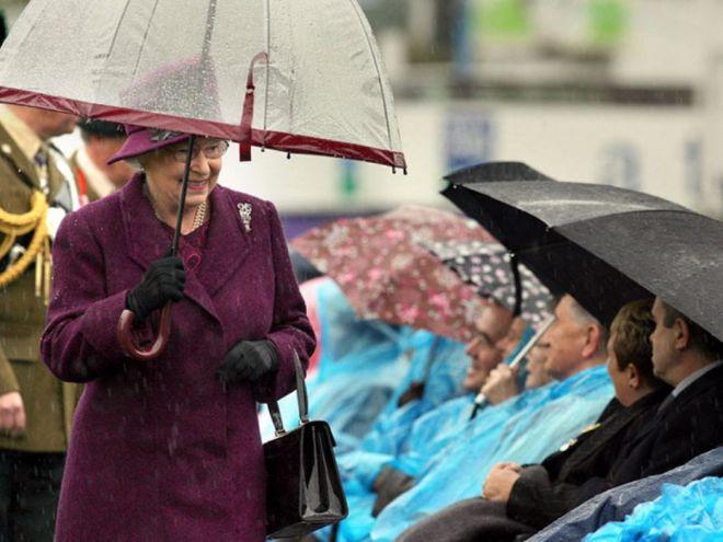 Зонты Елизаветы II всегда совпадают с тоном ее наряда рекомендации