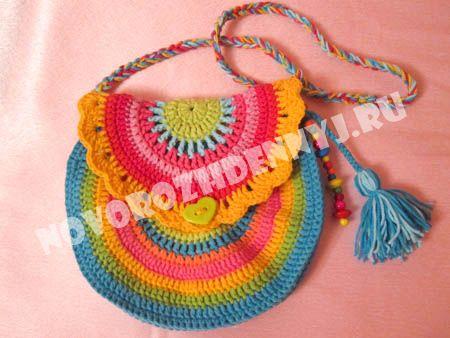 0ee4ea9f90f5 Сумочка для девочки крючком, круглая сумка вязаная крючком.