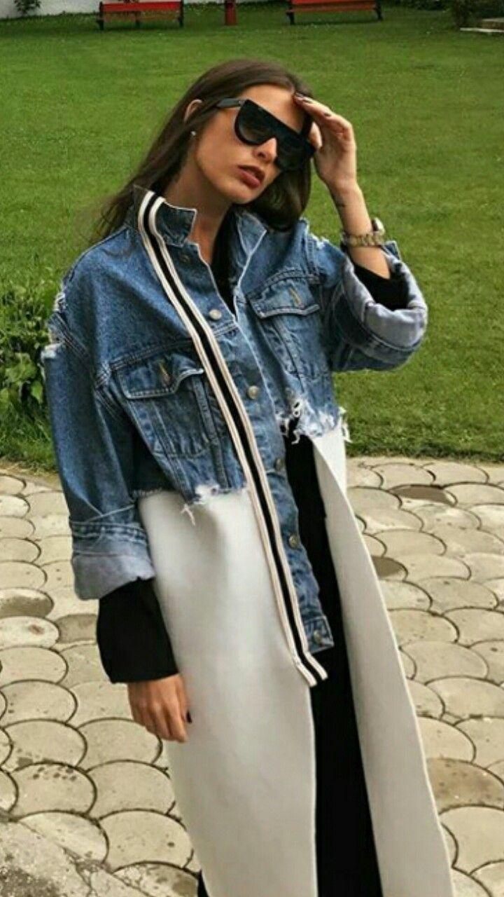 Переделка джинсового пальто