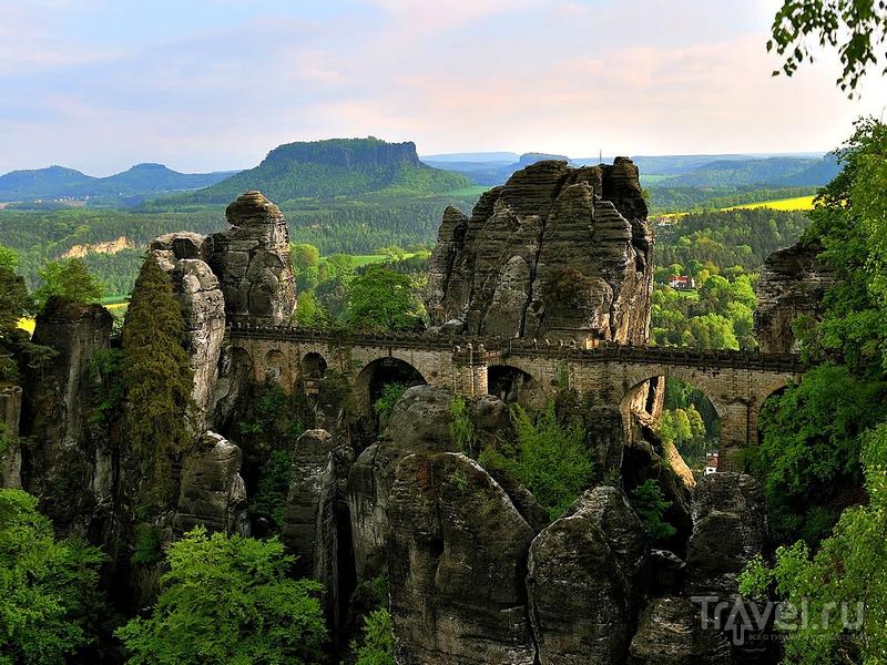 Мост Бастай был воздвигнут на высоте 195 метров, Германия / Германия