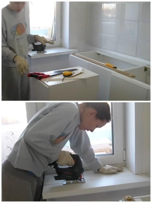 Хрупкая девушка умудрилась сделать капремонт кухни 7 кв.м. всего за 40 тыс. руб. домашний очаг,ремонт,рукоделие,своими руками