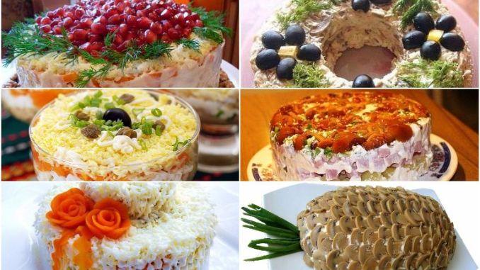 Слоеные салаты! Топ-10 самых пикантных вариантов