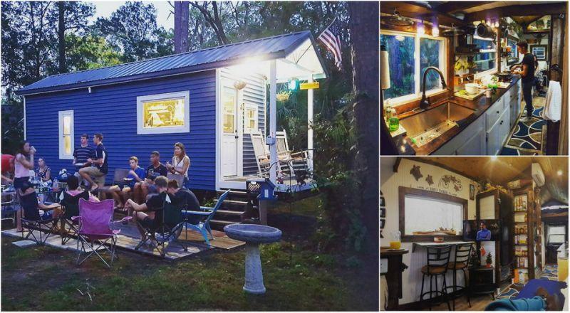 Парень не захотел жить в общежитии и построил домик за $14 000