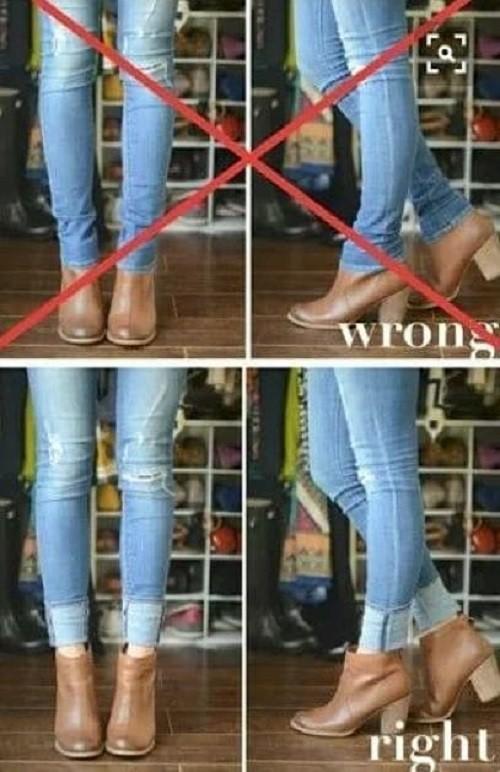 Длинные джинсы и высокие ботинки: делаем сочетание идеальным одежда, ремонт, своими руками, хитрости