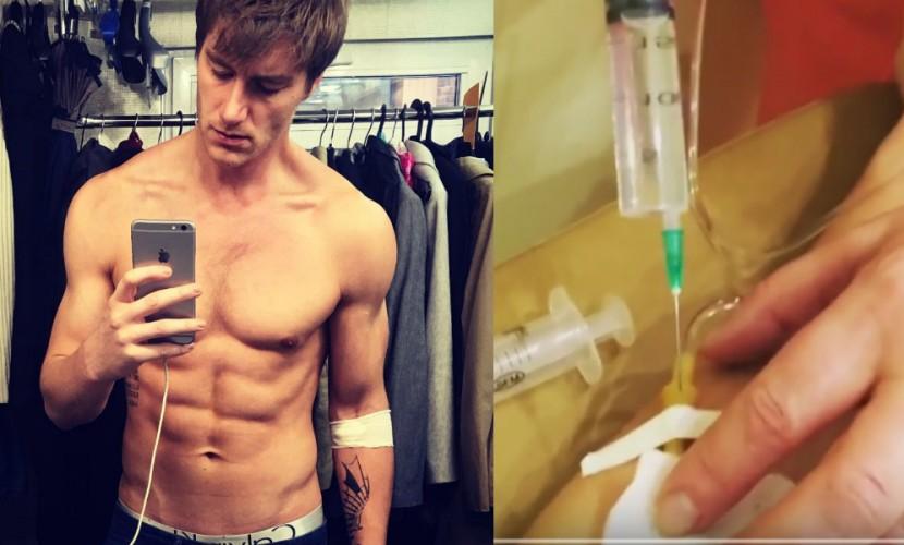 Алексей Воробьев снял на видео жуткую процедуру укола мельдония
