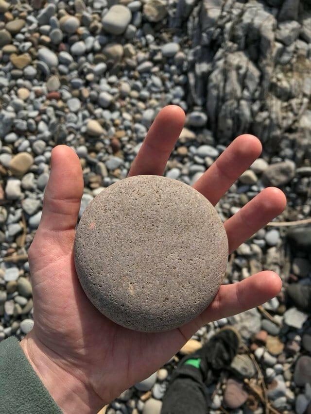2. «Идеально круглый камень» в мире, вещи, интересно, находка, пляж, удивительно