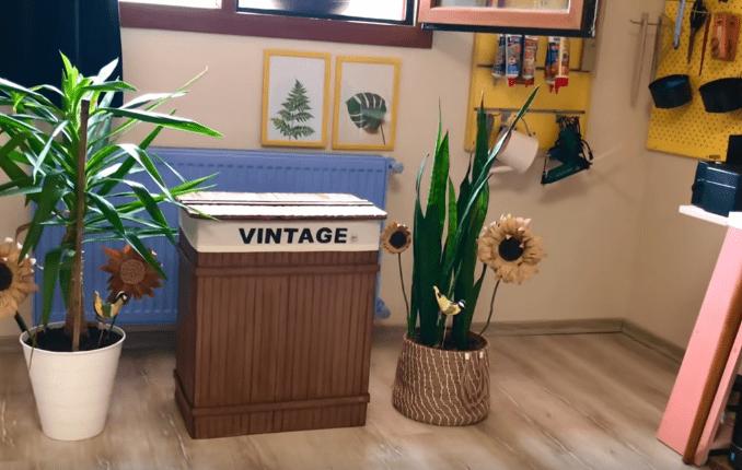Стильные коробки для хранения из ненужных ящиков