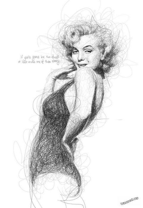 Красотка Мэрилин Монро. Автор: Vince Low.