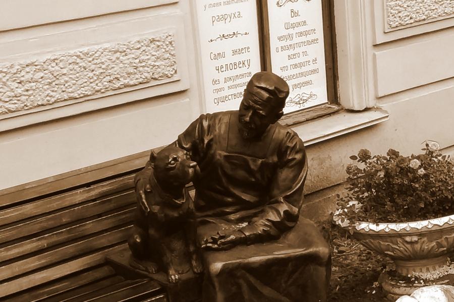 """""""Собачье сердце"""" пo-пeтepбypгcки. Памятник Шарику и Профессору """"Собачье сердце"""""""