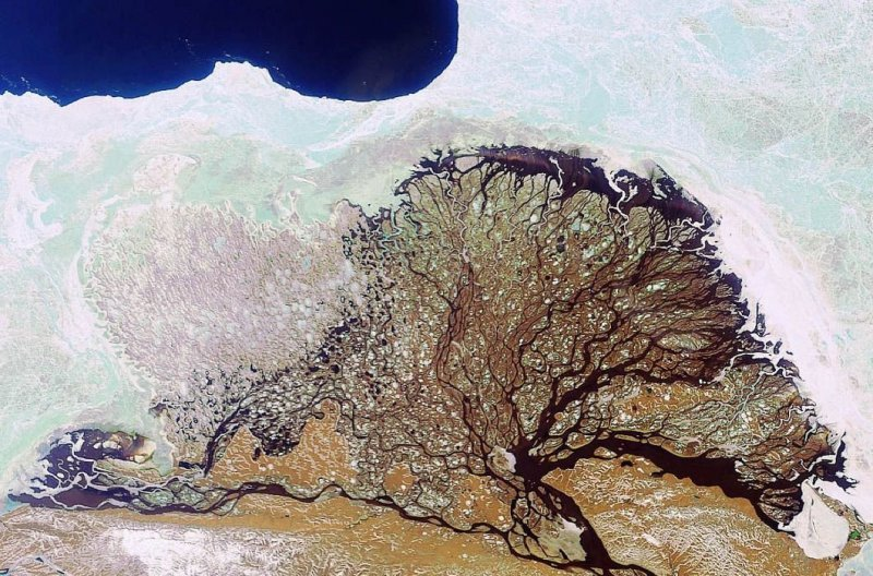 8. Дельта Лены. земля, космос, пейзаж, планета, природа, россия, фотосъемка