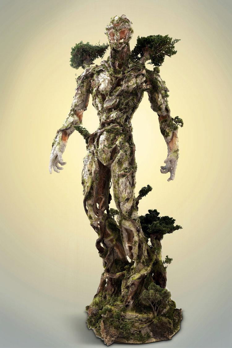 Древовидная фигура, состоящая из природных и технологических элементов от Гаррет Кейн