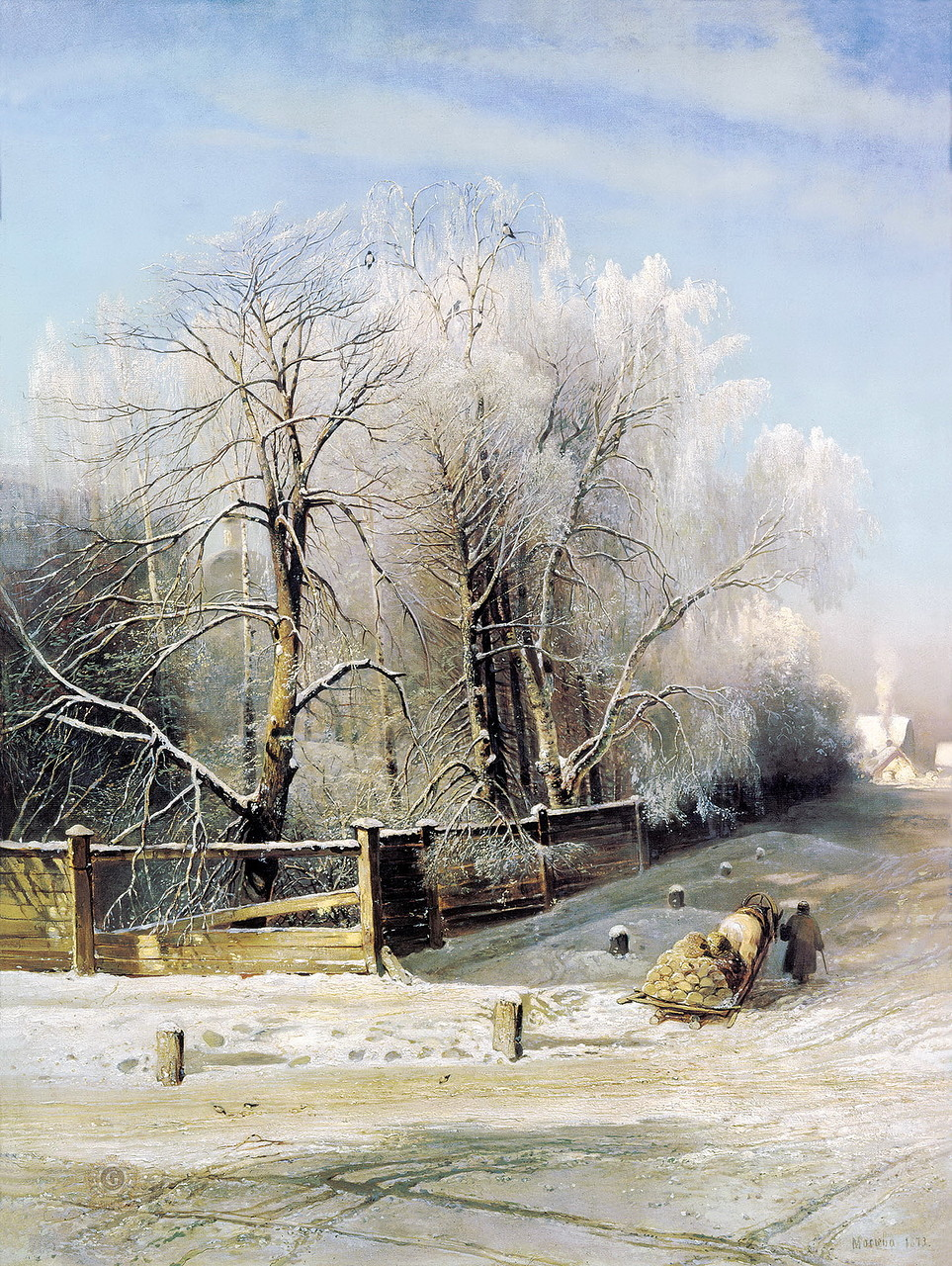 Выпал снег - и все забылось... Зимние пейзажи русских художников