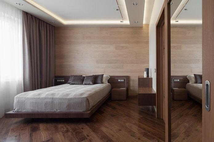 парящая конструкция в спальне