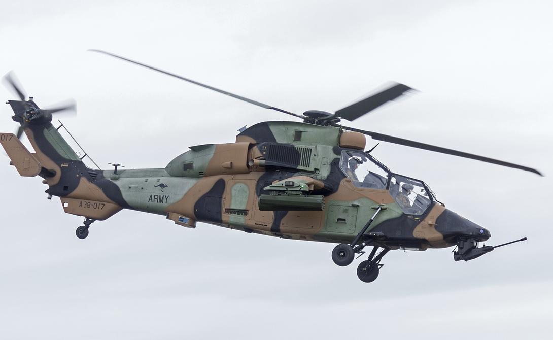Тигр Франция/Германия Один из самых современных вертолетов мира Eurocopter Tiger в настоящее время состоит на вооружении Германии и Франции. Этот ударный двухмоторный вертолет среднего веса впервые был введен в эксплуатацию в 2003 году.