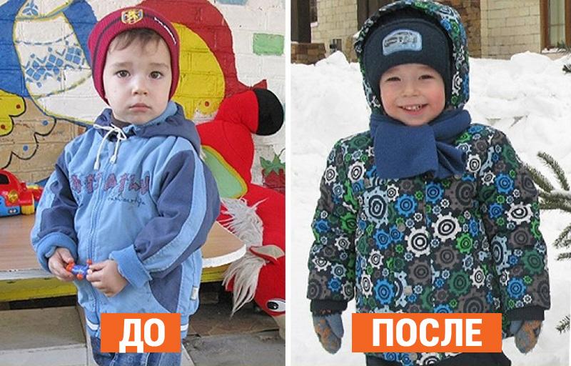 12 фото малышей до и после того, как их забрали из детского дома