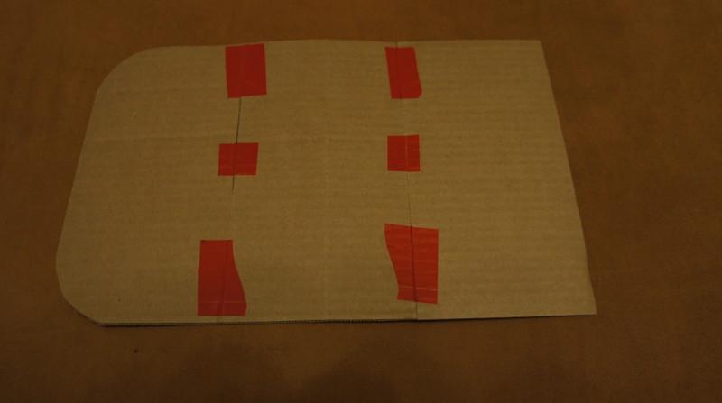 Выкройка, сам мерил и вырезал из коробки картонной. своими руками, сделай сам