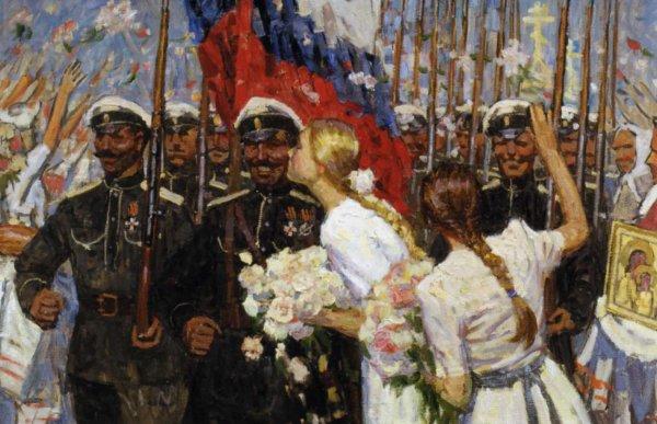 Что на российском флаге озна…