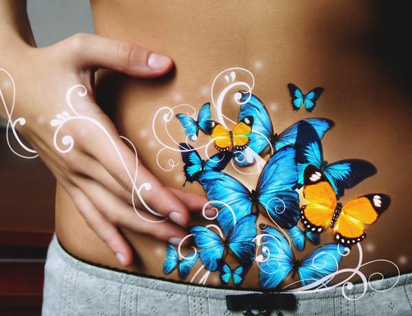 красивые картинки бабочки в животе