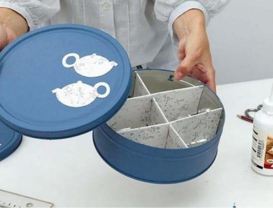 Декор банки для хранения чая своими руками
