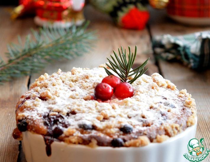 Рецепт: Брусничный кухен Рождественское чаепитие