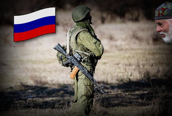 Бойцы части полной боевой готовности РФ поговорили с недовольным татарином в Крыму новости,события