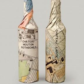 как упаковать бутылки в бумагу оберточную