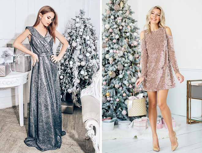 Пайетки новый год платья шикарные фото