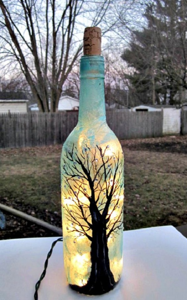 Сделать своими руками украшение на бутылку 94