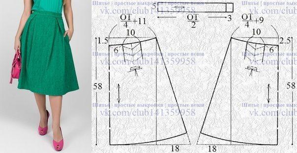 Моделирование юбок со складками