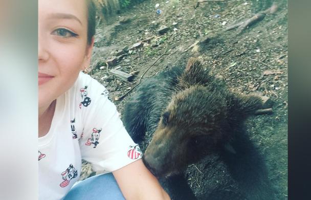 Селфи с медведем картинки