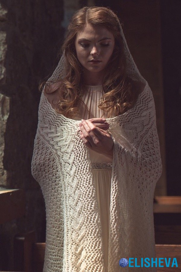 Ажурная шаль спицами «Maria's Veil» («Покров Марии»)