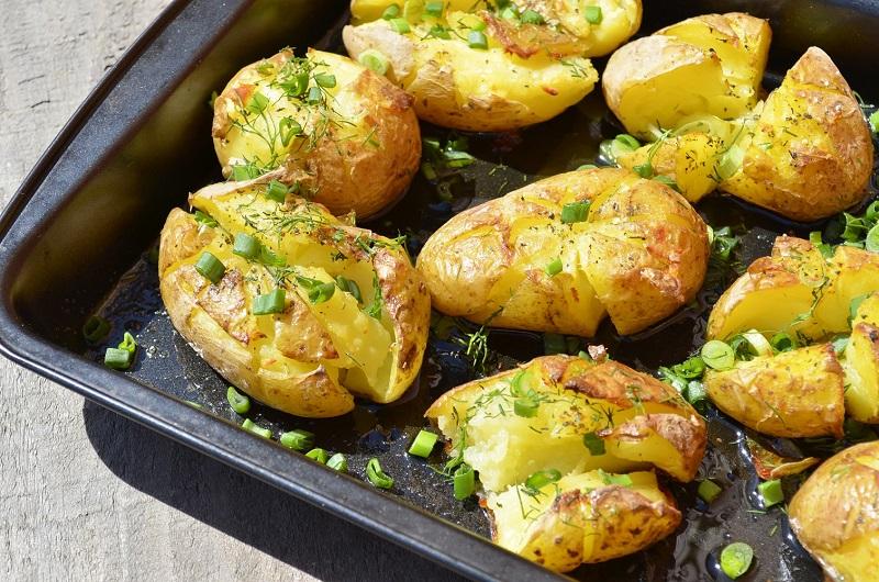 Мятая картошка в духовке — ш…