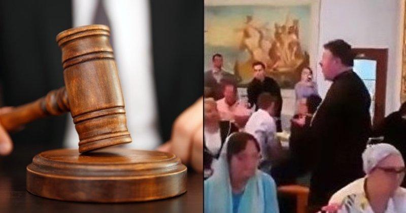 За публикацию видео со священником, поющим