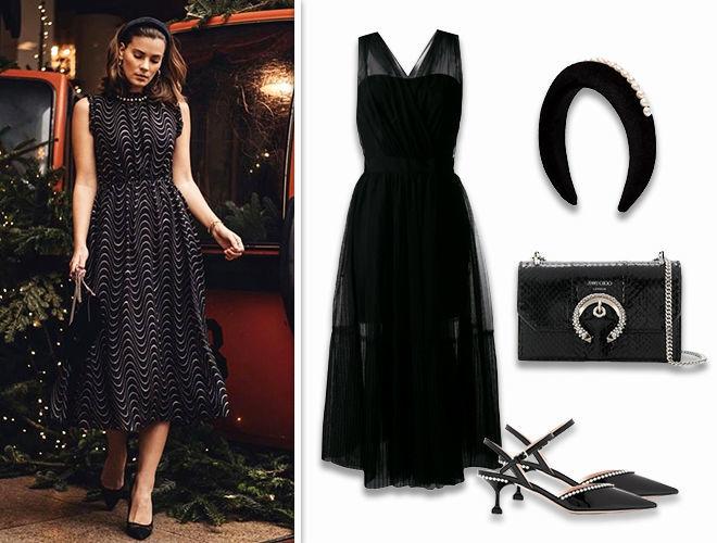 Образ на новы год платье ободок фото