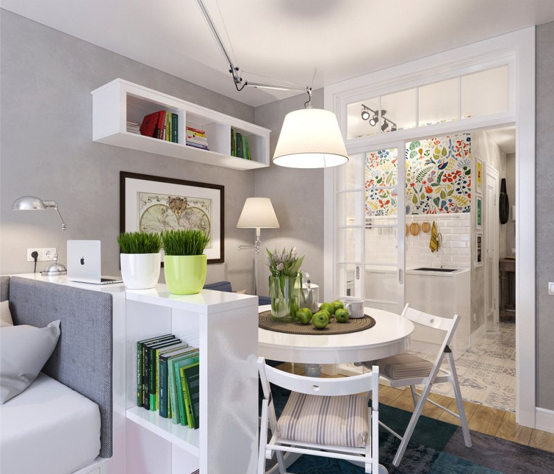 кухни в квартирах студиях варианты