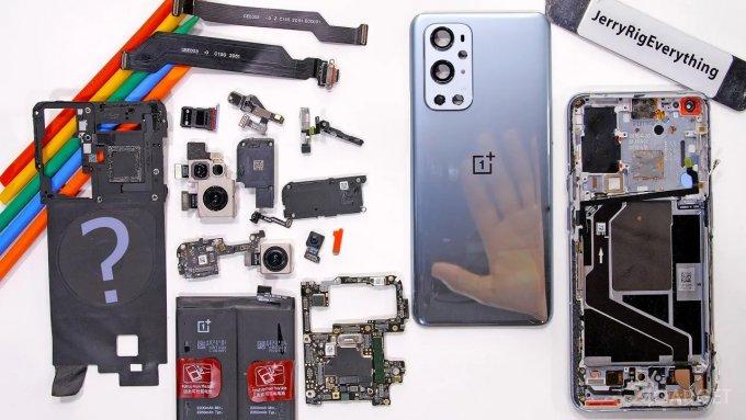 Зак Нельсон разобрал OnePlus 9 Pro и остался доволен