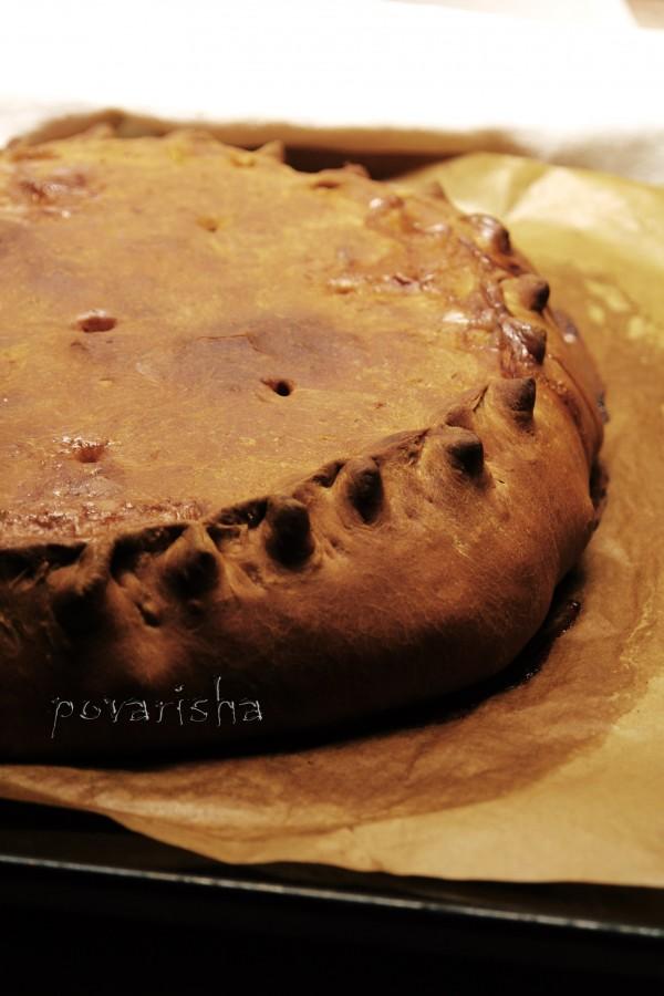 Пирог с рыбой_ картошкой и луком 3