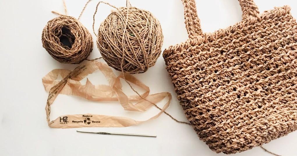 Стильная сумка-шоппер из необычного материала
