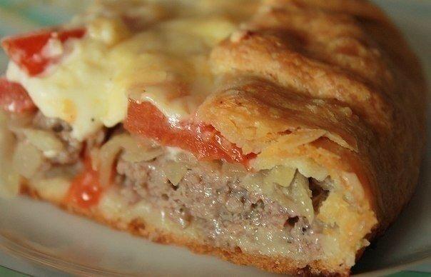 Открытый мясной пирог!