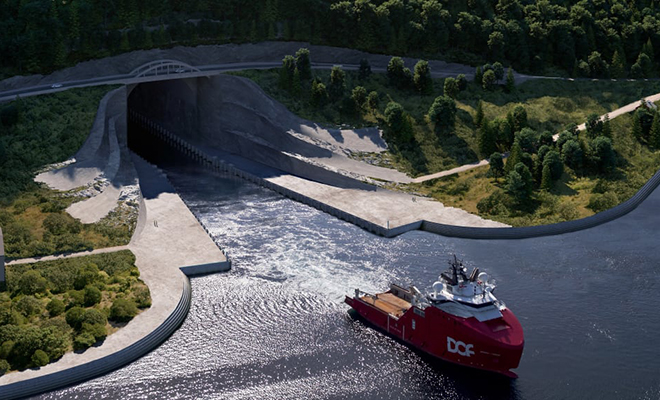 Первый в мире тоннель для кораблей изнутри. Норвежцы показали изображения проекта Культура