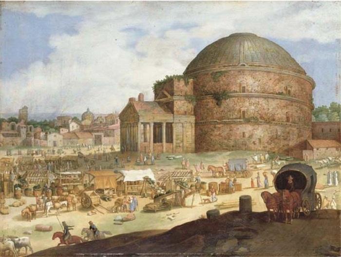 Изображение Пантеона написано голландским живописцем Willem van Nieulandt II (XVII век). | Фото: espavo.ning.com.