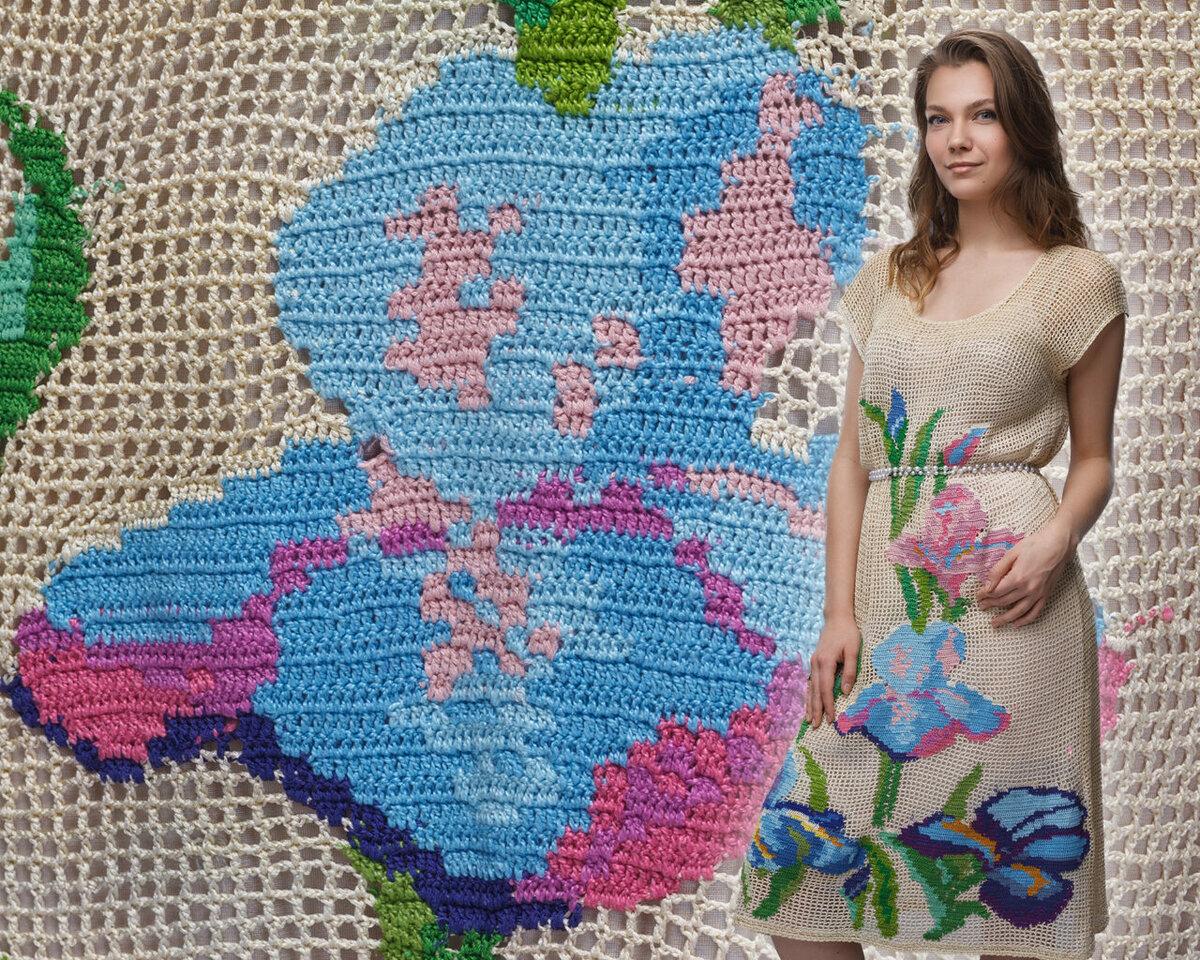 Живые цветы в филейном вязании от Натальи Олейниковой
