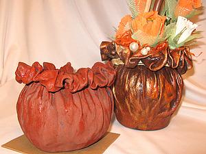 Кашпо-горшочек из ткани   Ярмарка Мастеров - ручная работа, handmade
