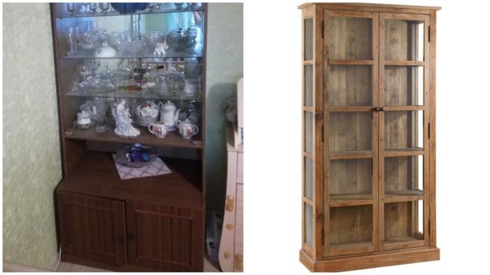 Сравнительный анализ-1: советский сервант VS современный шкаф для посуды и сувениров.
