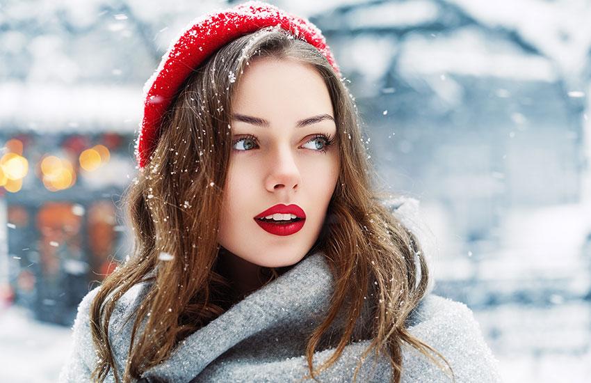 зима уход за кожей лицо красота