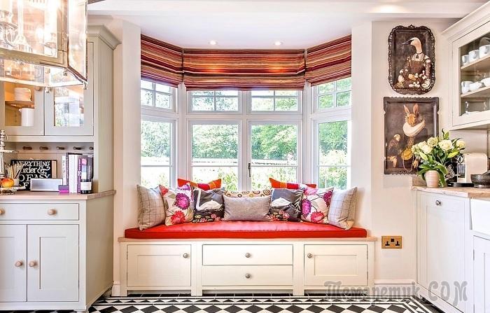 20 примеров комфортных мест у окна, которые сэкономят место в интерьере и порадуют глаз