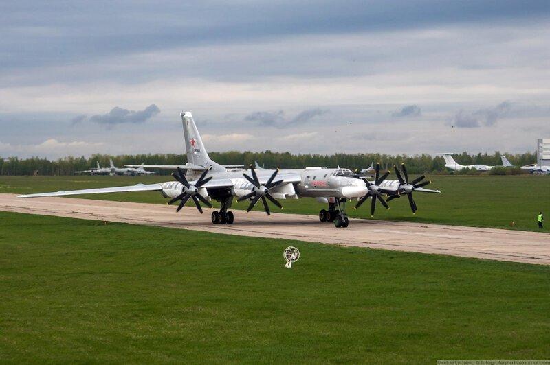 Москва из кабины самолета Ил-78