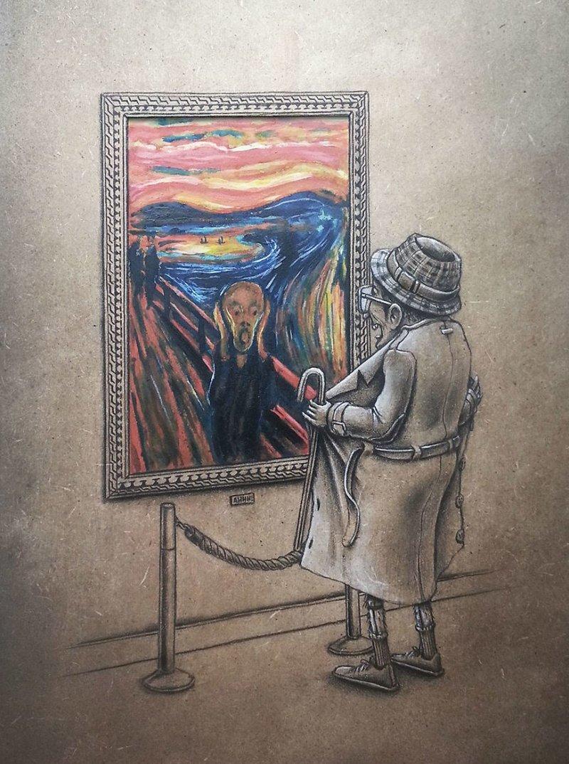 Картинка про художника прикольная