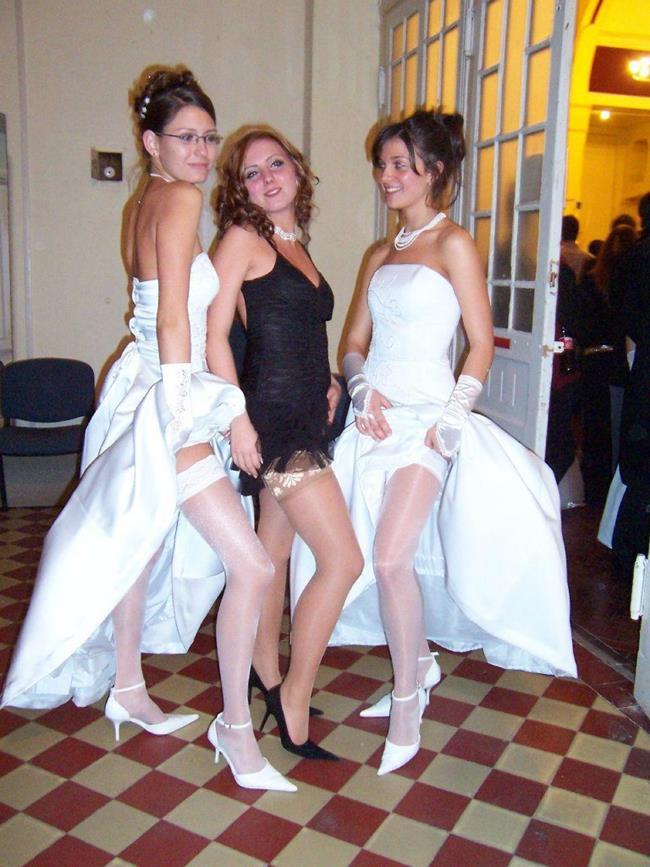 Невесты перед свадьбой и после фото засветы, прохожие заметили секс