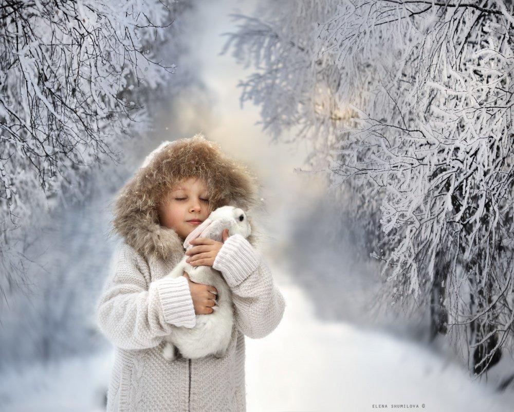 Картинка про счастье зимняя